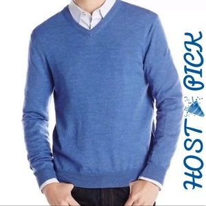 Long Sleeve V-Neck Pullover Wool Blend Sweater Top